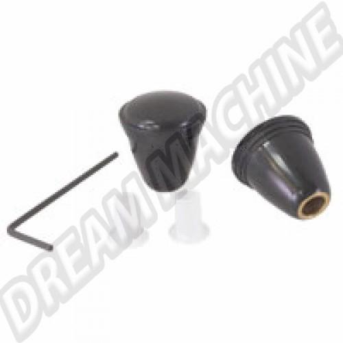 Bouton noir pour autoradio avec clé Allen. la paire 111999101BK Sur www.dream-machine.fr
