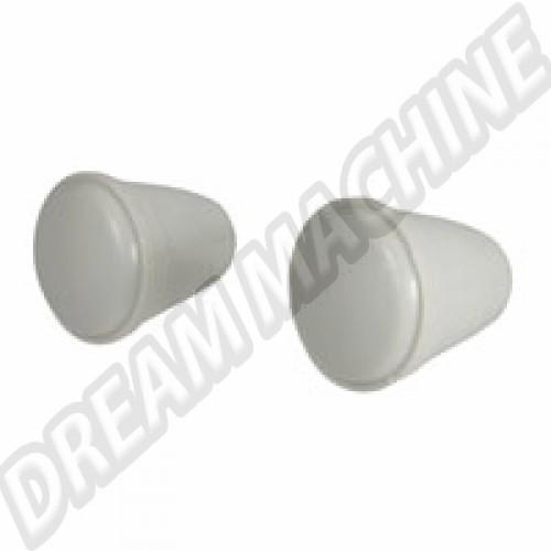 Bouton gris pour autoradio avec clé Allen. la paire 111999101GY Sur www.dream-machine.fr