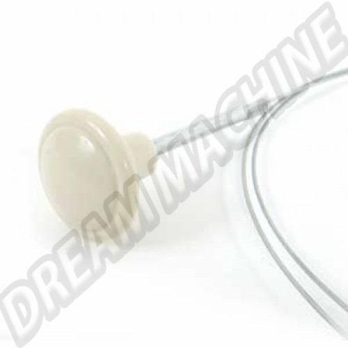 Cable ouverture de capot avant 10/52--->>66 bouton blanc 113823531 Sur www.dream-machine.fr