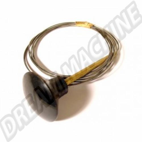 Cable ouverture de capot avant 10/52--->>66 bouton noir 113823531BK Sur www.dream-machine.fr