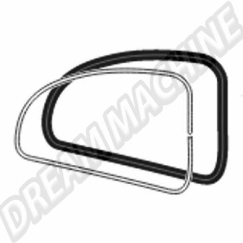 Joint de vitre latérale Ar Droit 08/71--> pour jonc  113845322F Sur www.dream-machine.fr