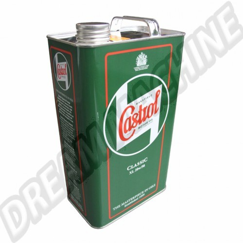 Castrol Classic huile XL20W50 1200ppm (1 Gallon = 4.54l) XL20W50 Sur www.dream-machine.fr