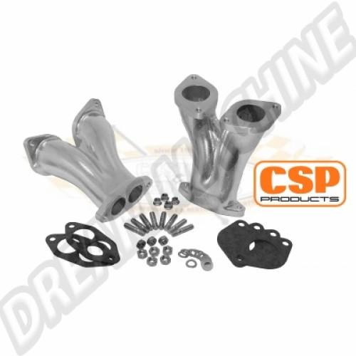 pipes d'admission CSP pour carburateurs IDF 40mm 129 711 140 Sur www.dream-machine.fr