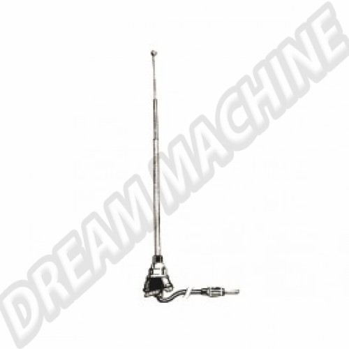 Antenne 1 point embase chromée Karmann Ghia 56-74 141-900  Sur www.dream-machine.fr