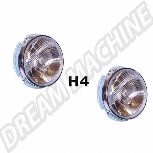 Phares avant complets H4 Karmann Ghia 60-74 141941039X Sur www.dream-machine.fr