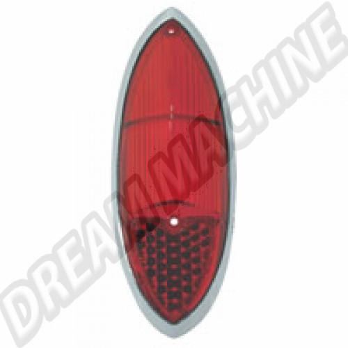Cabochon de feu arrière rouge Ghia 60-69 141945227D Sur www.dream-machine.fr