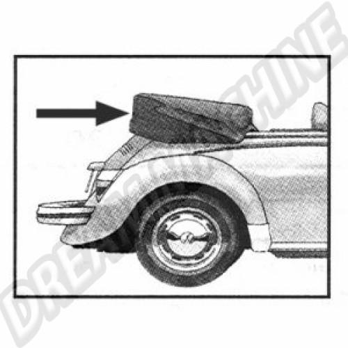 Couvre capote en alpaga noir coccinelle cabriolet 73--->>77 151041FCBK Sur www.dream-machine.fr