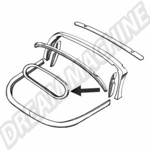 Cadre bois de lunette arrière pour Cox cabriolet 74-> 9024 Sur www.dream-machine.fr