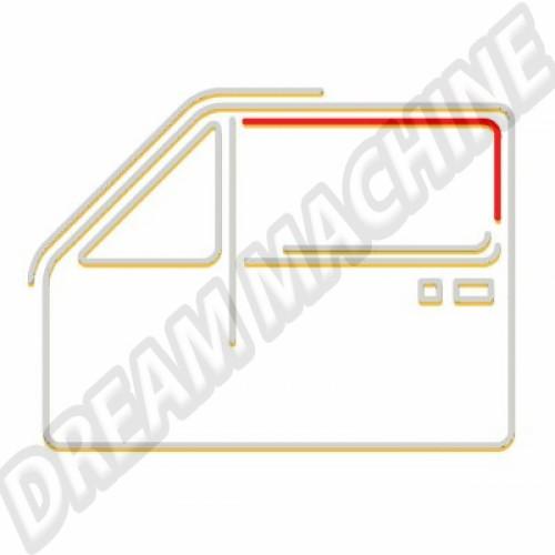 Guide de vitre gauche ou droit. avant ou arrière Golf 1 171837439D Sur www.dream-machine.fr