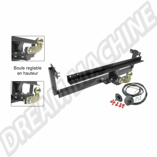 Attelage combi Type 2 (T2a - Bay Window Early) 68> 71 homologue EU  kit complet  211781121 Sur www.dream-machine.fr