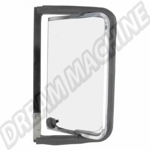 Déflecteur arriere complet gauche avec cadre de vitre  chromé en acier inoxydable Combi de 8.1967 -> 7.1979 221847655S Sur www.dream-machine.fr