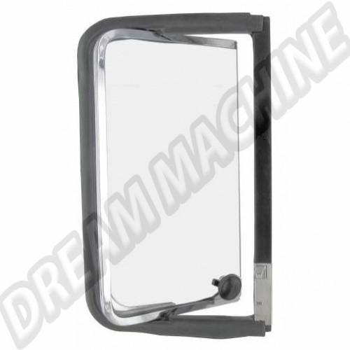 Déflecteur arriere complet droit avec cadre de vitre  chromé en acier inoxydable Combi de 8.1967 -> 7.1979 221847656S Sur www.dream-machine.fr