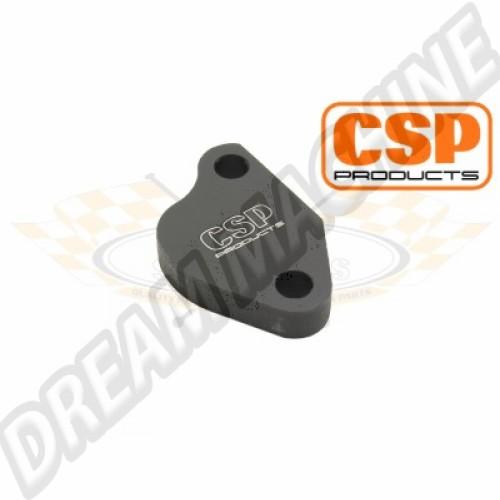 Plaque en alu noir de pompe à essence moteur type 4  127303400A Sur www.dream-machine.fr