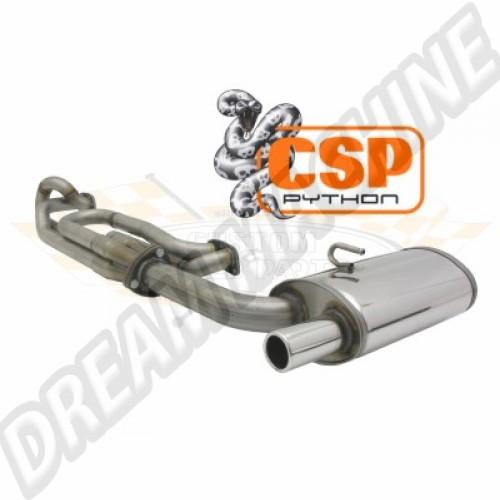Echappement CSP Python 45mm inox Combi 72->79 et moteur Type 4  251204045B Sur www.dream-machine.fr