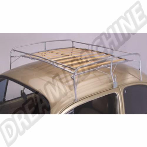 Galerie de toit métal et lattes en bois Coccinelle toutes années sauf cabriolet AC898B810 Sur www.dream-machine.fr