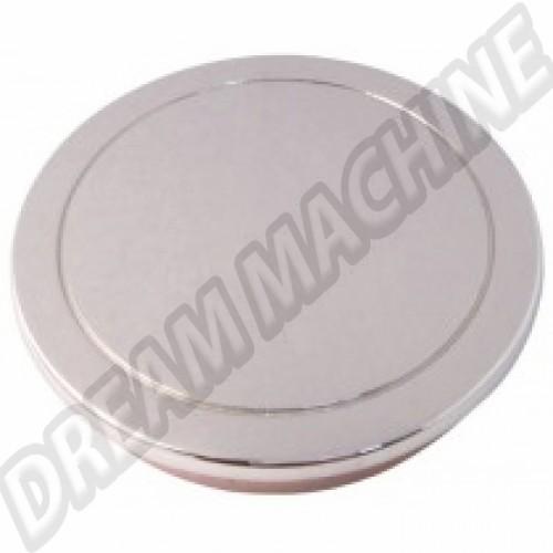 Cabochon métal chromé sans logo pour jantes Fusch  38768 Sur www.dream-machine.fr