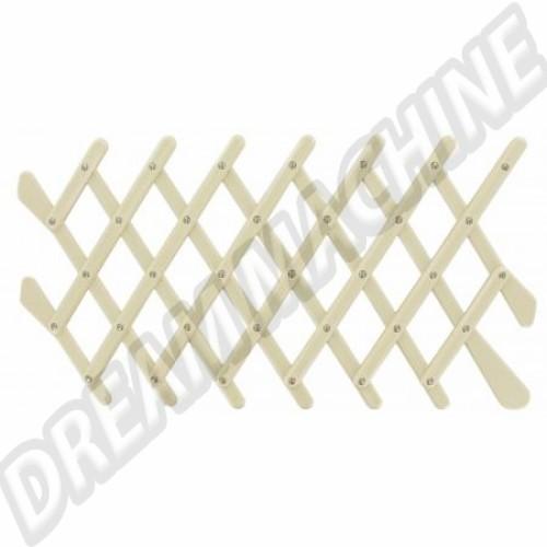 Grille d'aération rétro couleur ivoire pour vitre de porte  DM061017 Sur www.dream-machine.fr