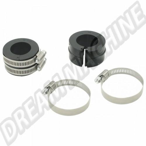 Kit manchons de pipe admission noirs fendus pour éviter le démontage du moteur  00-9960-0 Sur www.dream-machine.fr