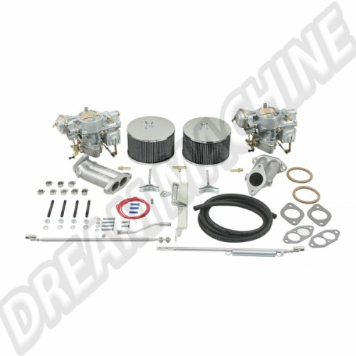 Kit 2 carburateurs Empi/Kadron double admission 44mm Solex 43-4420-0 Sur www.dream-machine.fr
