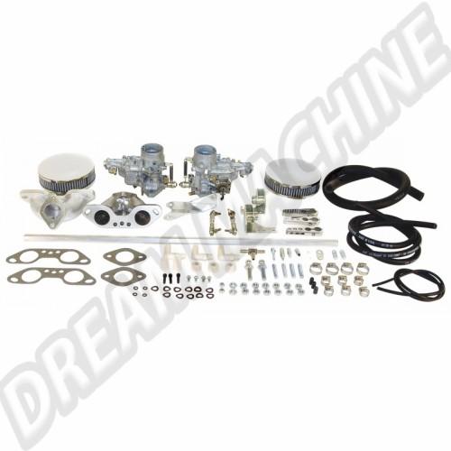 Kit complet de 2 carburateurs T4 Weber 34ICT moteur 1700-2000cc 43-7412-0 Sur www.dream-machine.fr