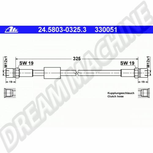 flexible d'embrayage hydraulique pour Transporter T25 251-721-477/D Sur www.dream-machine.fr