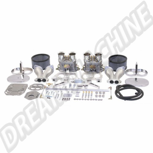 Kit complet de 2 carburateurs double corps 44mm Empi HPMX 47-7319-0 Sur www.dream-machine.fr