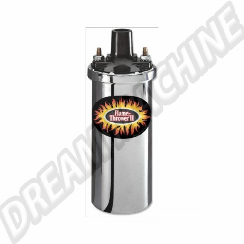 Bobine Pertronix chromée Flame-Thrower II 45.000 Volts 6 Ohms AC90545001 Sur www.dream-machine.fr