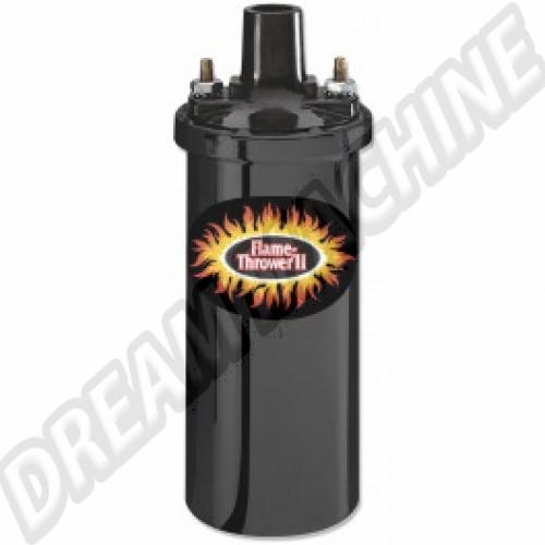 Bobine Pertronix noire Flame-Thrower II 45.000 Volts 6 Ohms AC90545011 Sur www.dream-machine.fr