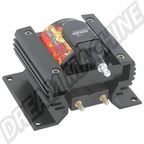 Bobine d'allumage Flame Thrower HV noire époxy avec radiateur intégré 60.000 Volts 0.45 Ohms DM81337 Sur www.dream-machine.fr