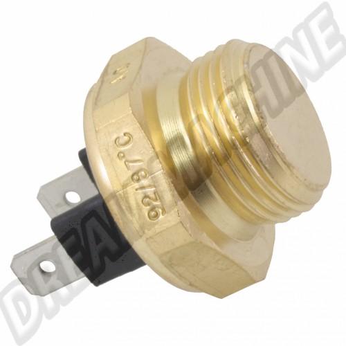 Contacteur de ventilateur sur radiateur d'eau 2 broches 92 / 87 C  823959481AF Sur www.dream-machine.fr
