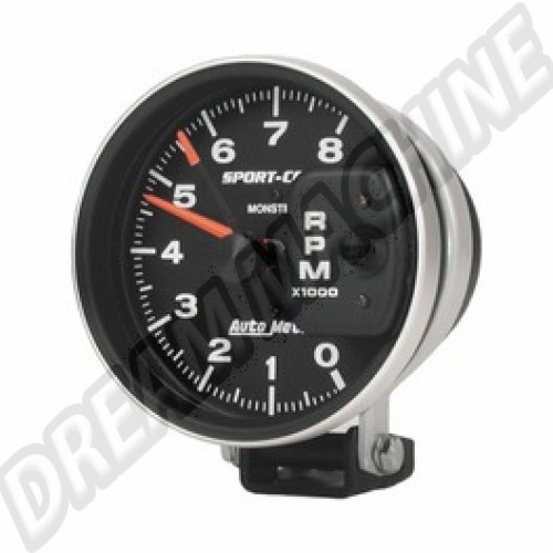 Compte-tours Autometer diamètre 125mm 8000 Tours Sport Comp AM93503 Sur www.dream-machine.fr