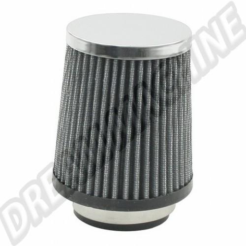 Filtre à air chromé conique pour carbu Solex kadron 00-9004-0 Sur www.dream-machine.fr