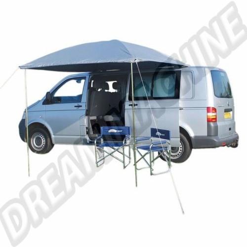 Auvent argenté Résistant aux UV pare-soleil conçu pour les voitures classiques et des camionnettes avec des gouttières. AC898004 Sur www.dream-machine.fr