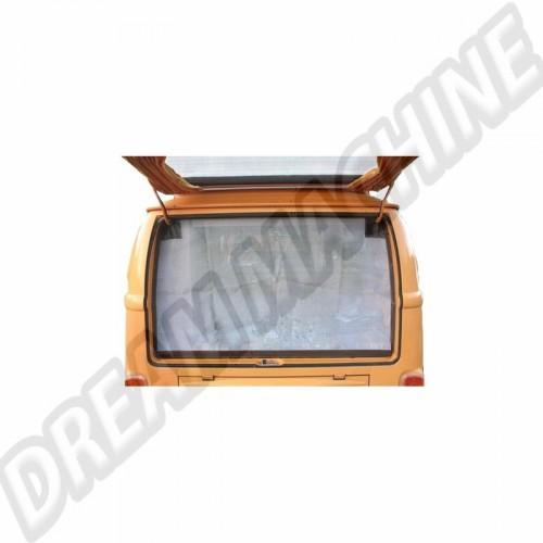 Moustiquaire de hayon arrière avec pourtour marronpour Combi Westfalia 8/63-79 DM9903 Sur www.dream-machine.fr