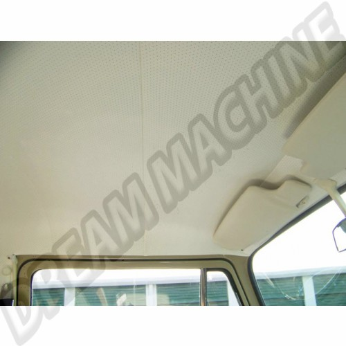 Ciel de toit/garniture de pavillon pick-up double cabine en vinyle blanc cassé perforé 8/1964 jusque 7/1974 pick-up simple cabine 2 baleines Dm22856 Sur www.dream-machine.fr