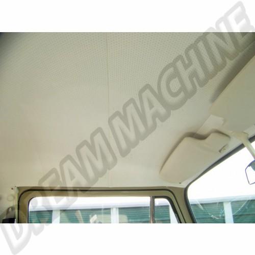 Ciel de toit/garniture de pavillon pick-up double cabine en vinyle blanc cassé perforé de 8/1964 jusque 7/1974 pick-up double cabine 4 baleines Dm22857 Sur www.dream-machine.fr