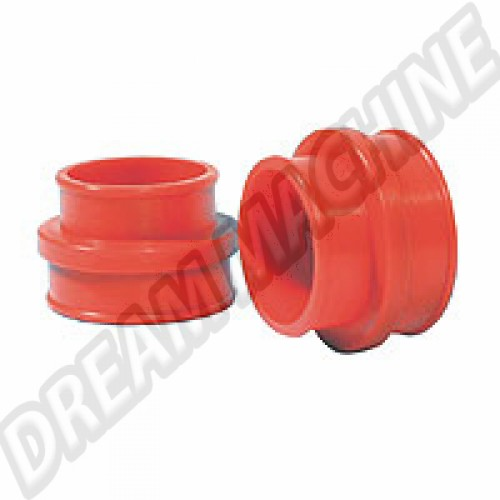 Kit manchons de pipe admission uréthane rouge AC129902 Sur www.dream-machine.fr