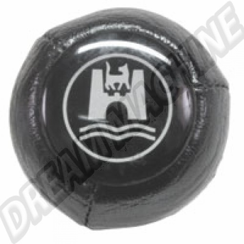 Pommeau noir avec logo Wolfsburg 12mm 68-79 AC711405 Sur www.dream-machine.fr