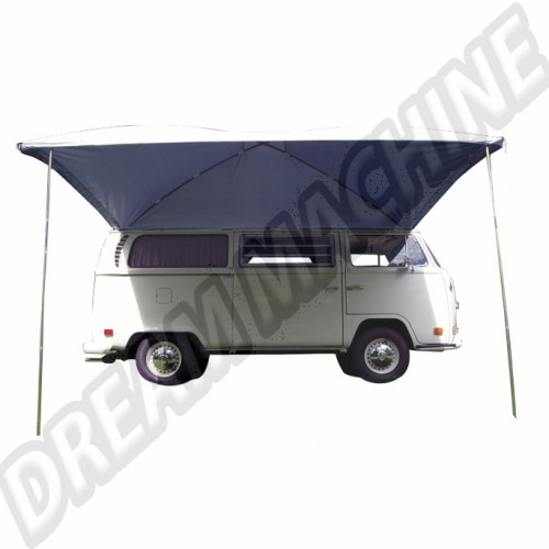 Auvent large argenté Résistant aux UV pare-soleil conçu pour les voitures classiques et des camionnettes avec des gouttières AC898005 Sur www.dream-machine.fr