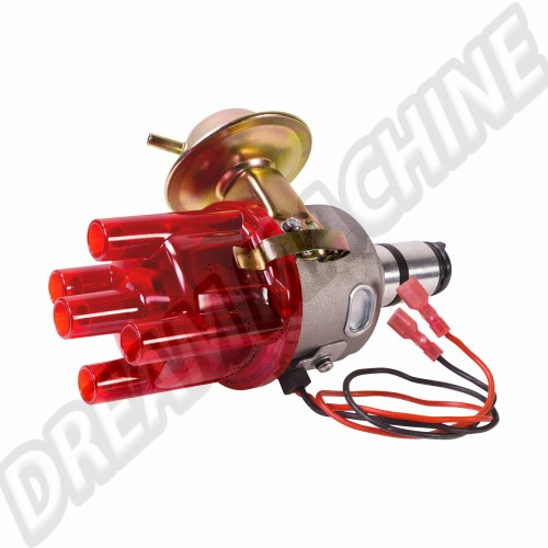 Allumeur complet à dépression avec système électronique et tête rouge transparente AC905005 Sur www.dream-machine.fr