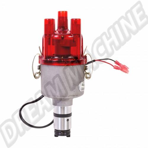 Allumeur complet style 009 avec système électronique et tête rouge transparente AC905006 Sur www.dream-machine.fr