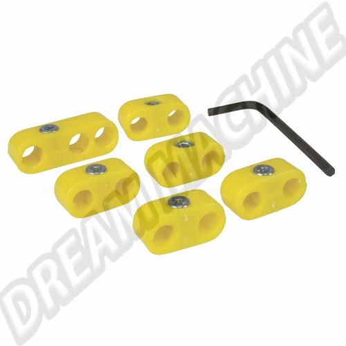Séparateurs de fils de bougies jaunes AC998206 Sur www.dream-machine.fr
