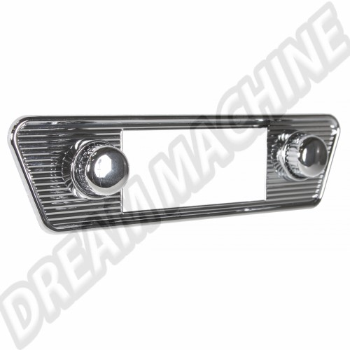 "Façade chromée pour autoradio ""Retrosound"" avec boutons chromés Karmann Ghia  AC999RS007 Sur www.dream-machine.fr"