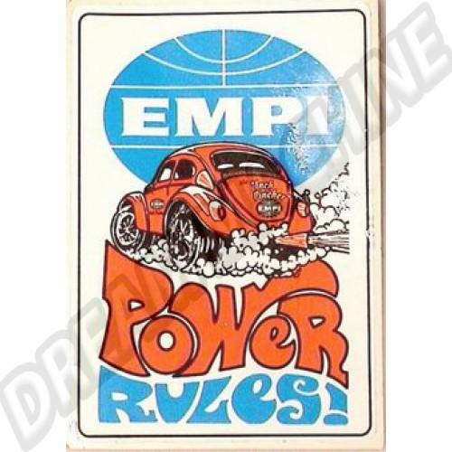 Autocollant Empi Power rules 98160 Sur www.dream-machine.fr
