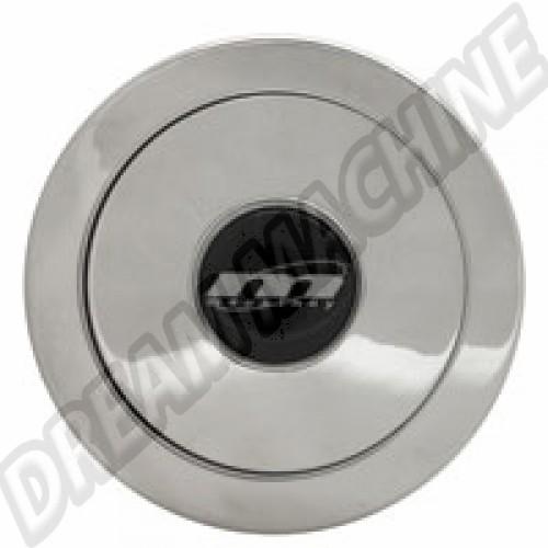 Bouton de klaxon aluminium poli pour moyeu Mountney MHPP Sur www.dream-machine.fr