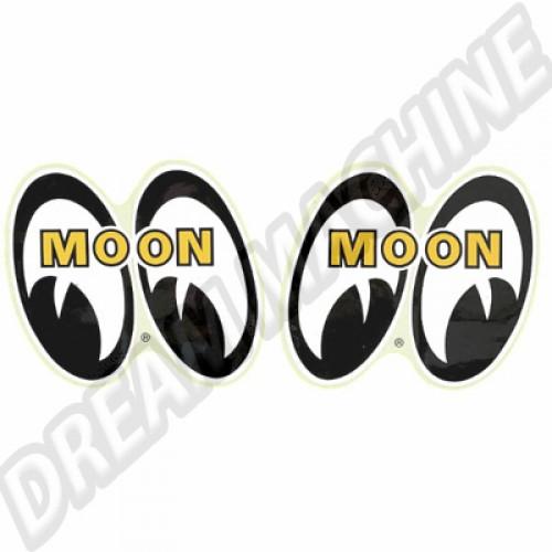 Autocollant Moon paire d'yeux les 2 Large dm051L Sur www.dream-machine.fr