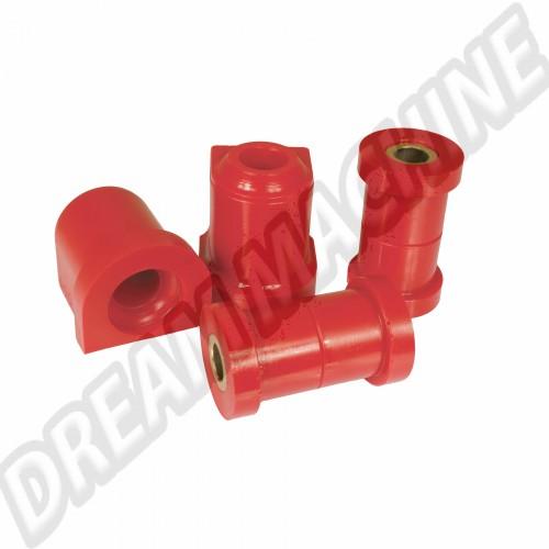 Silentblocs pour  triangles de suspension en uréthane plus durs et plus résistant Golf 1 DM4122201 Sur www.dream-machine.fr