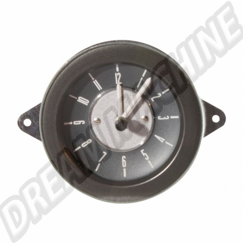 Horloge style origine Deluxe 12v fond gris combi 1968-1973 DM957067 Sur www.dream-machine.fr