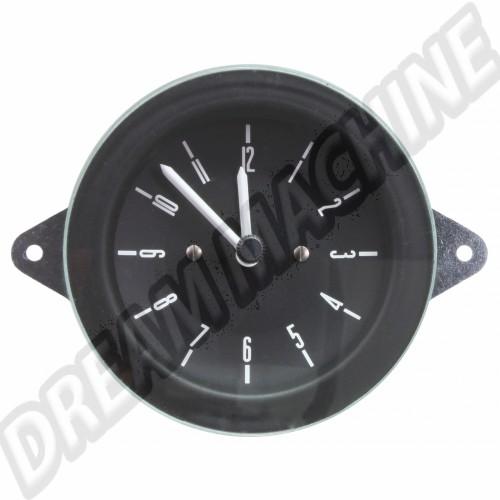 Horloge Deluxe 12v fond noir combi 1976-1979 DM957069 Sur www.dream-machine.fr