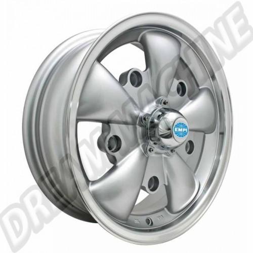 Jante Empi GT-5 grise et polie 5.5x15 5 trous 5x205 00-9691-0 Sur www.dream-machine.fr